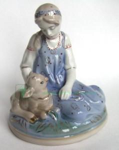 фарфоровая статуэтка Заяц Старая Гжель старой гжели статуэтки советского периода бессарабова