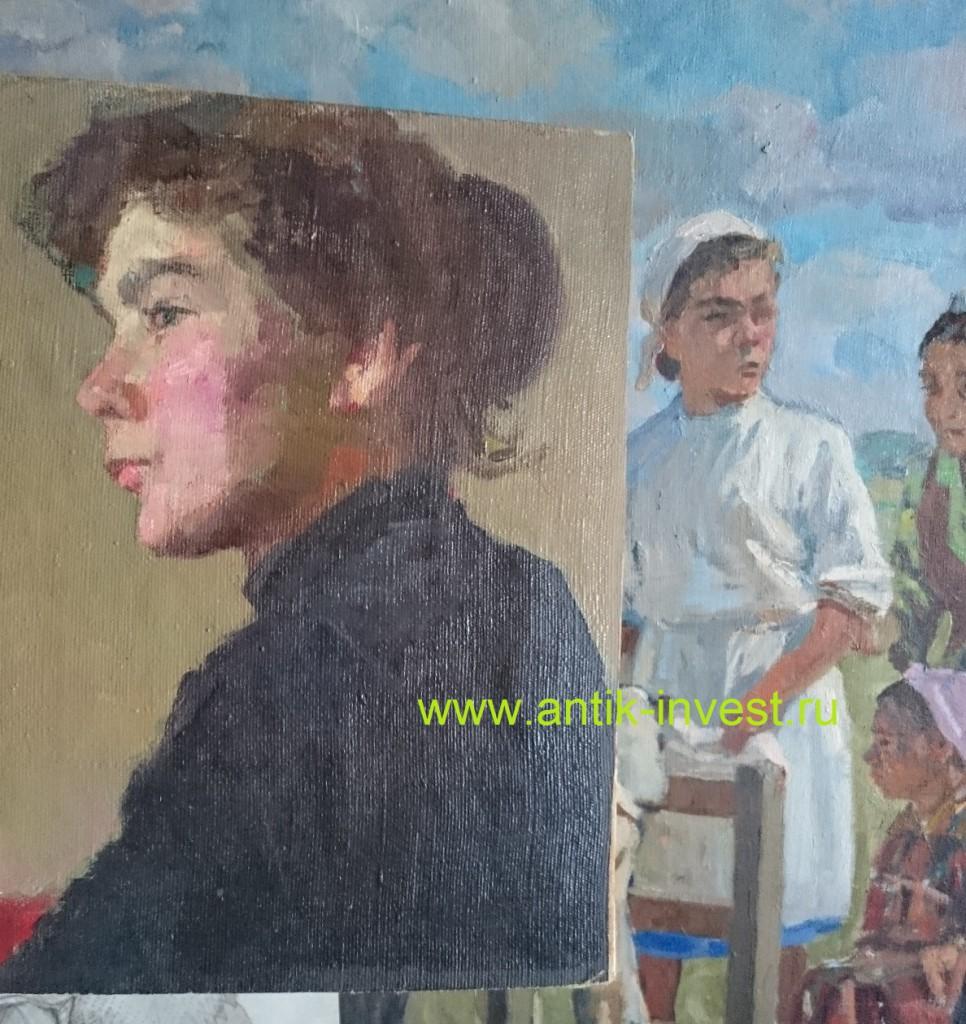 жена художника Богачева образ жены