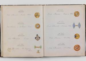 Россия, 1889-1913 гг. Бумага, картон, кожа, акварель, белила, графитный карандаш, твореное золото, чернила.