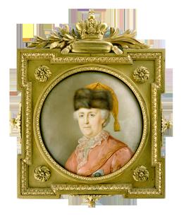 Портрет императрицы Екатерины II в дорожном костюме