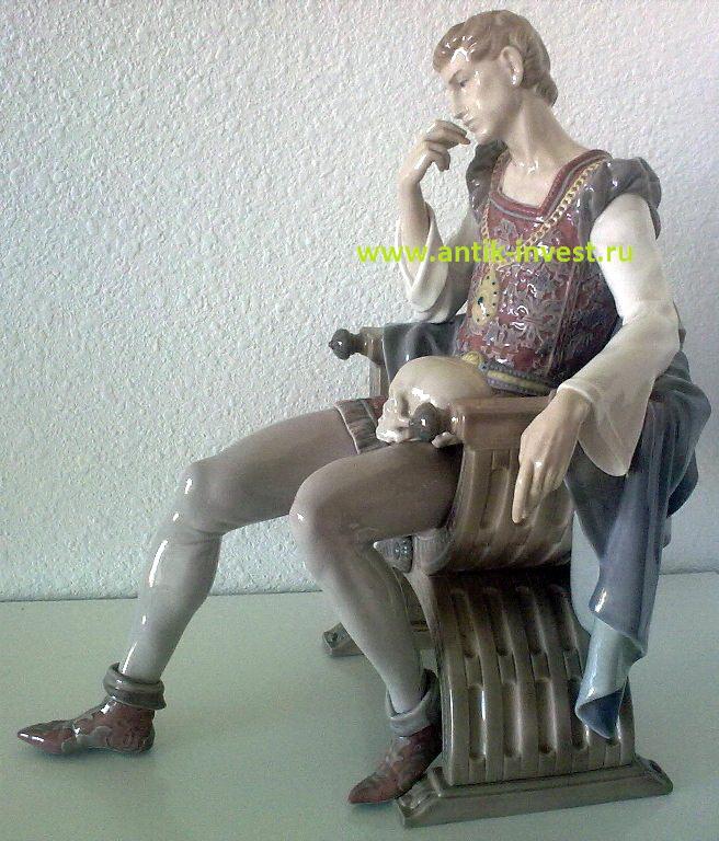 Размышления Гамлета Гамлет и Йорик Ладро LLADRO фарфоровая статуэтка