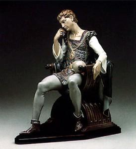 купить статуэтку Размышления Гамлета Гамлет и Йорик Ладро LLADRO фарфоровая статуэтка