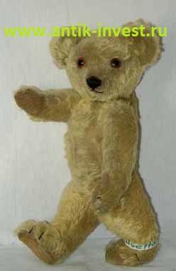 английский плюшевый медведь мишка тедди Teddy CHAD VALLEY 43 см клеймо на ушке