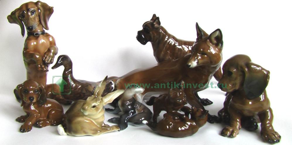 анималистика розенталь фигурки статуэтки фарфоровые скульптура rosenthal
