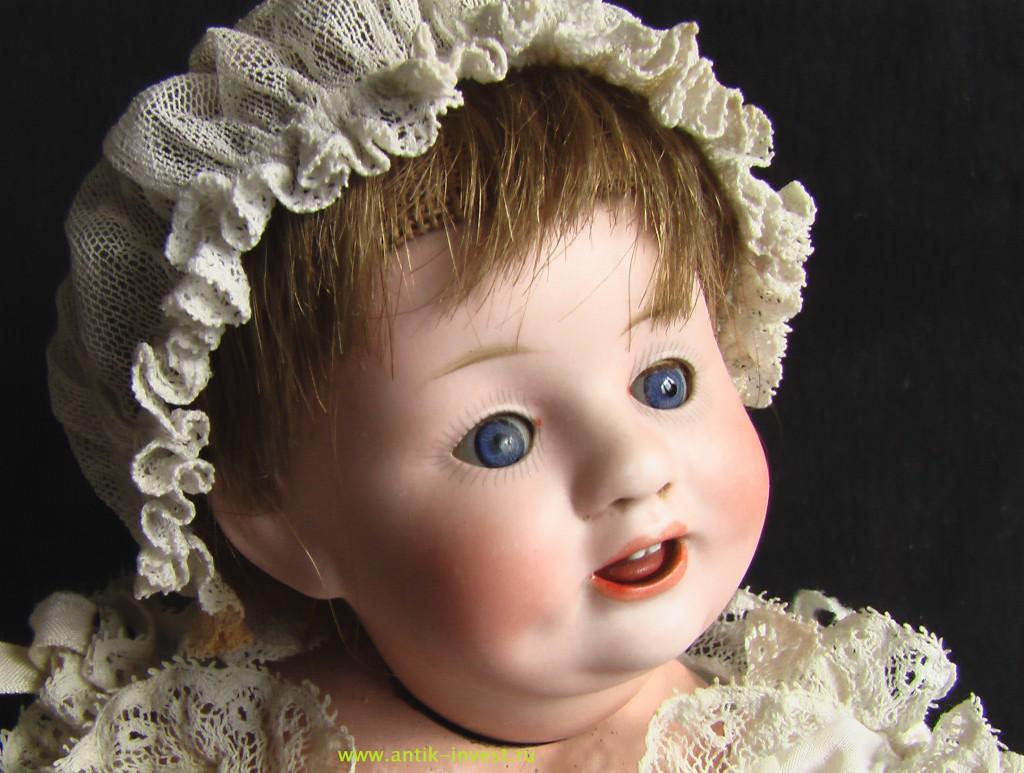 купить старинную характерную куклу с фарфоровой головой и композитным телом