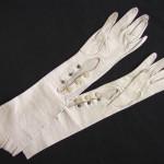 кожаные перчатки белые 19в 40см купить продать