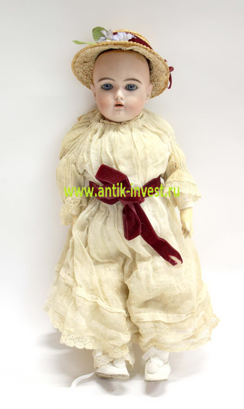 антикварная старинная кукла Heinrich Handwerck Dolls Simon & Halbig молд 69 высота 40 см