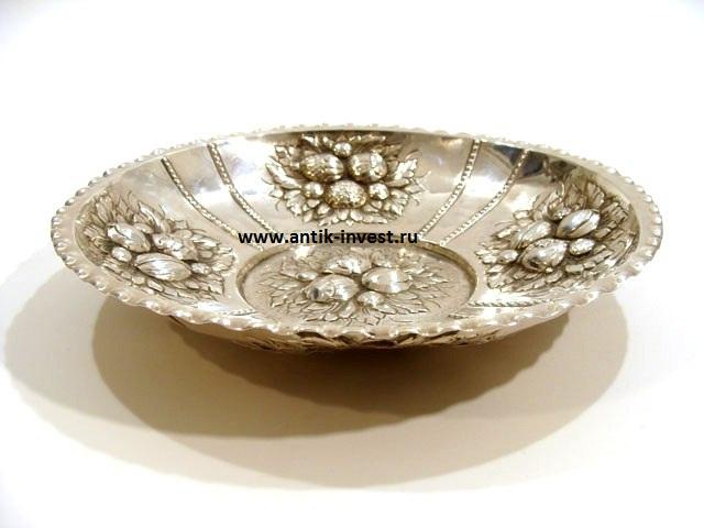 блюдо серебряное вес 220 грамм диам 23 см интернет аукцион антиквариата