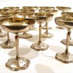 бокалы для шампанского фужеры вес 1500 грамм 12 штук