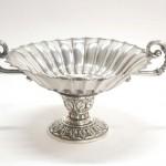 продажа антиквариата большая серебряная ваза для фруктов 1200 грамм 21 на 40 на 30 см