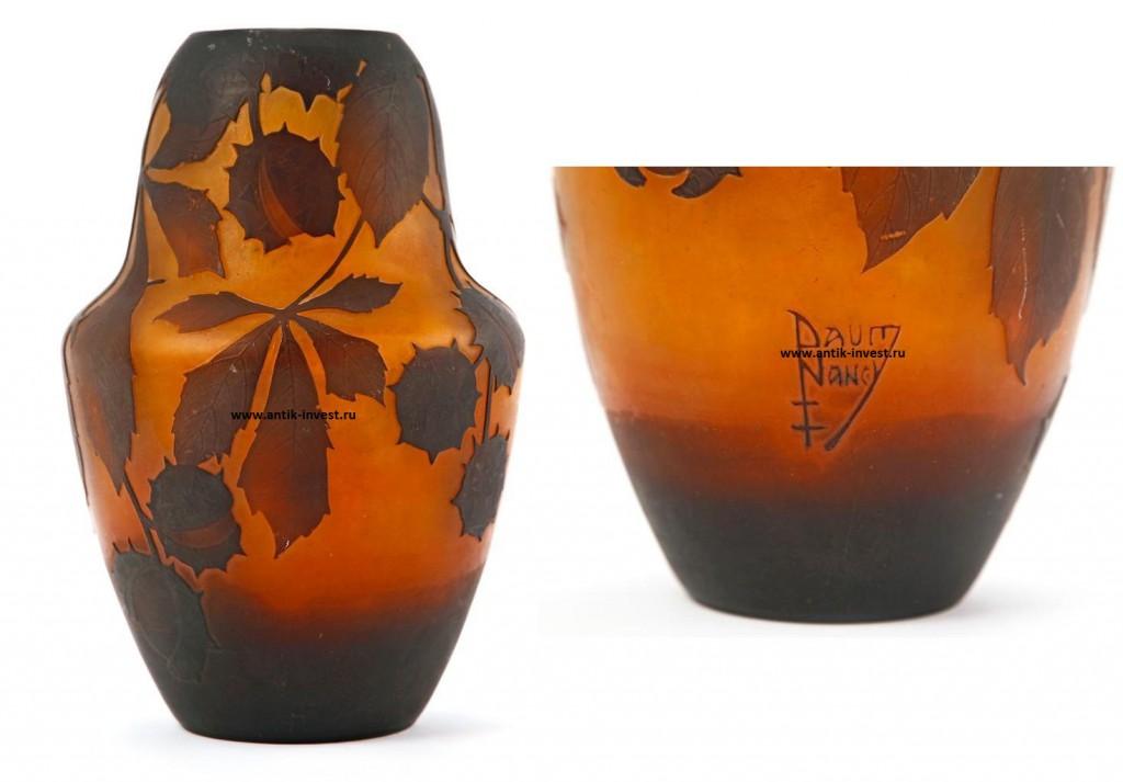 ваза Дом Ненси 1900-1915 Hermanos Daum 19см