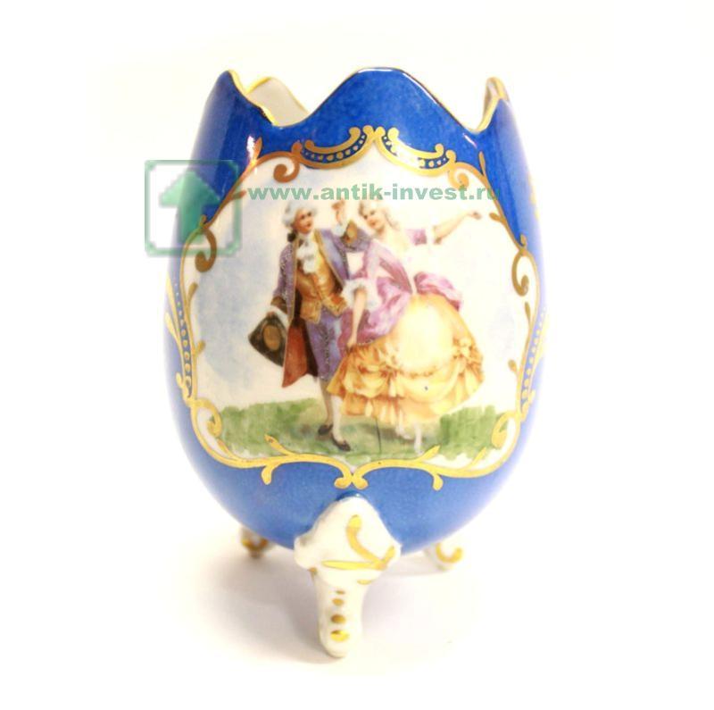 ваза в форме яйца Лимож Limoges интернет аукцион антиквариата купить продать 17см старт 100 евро