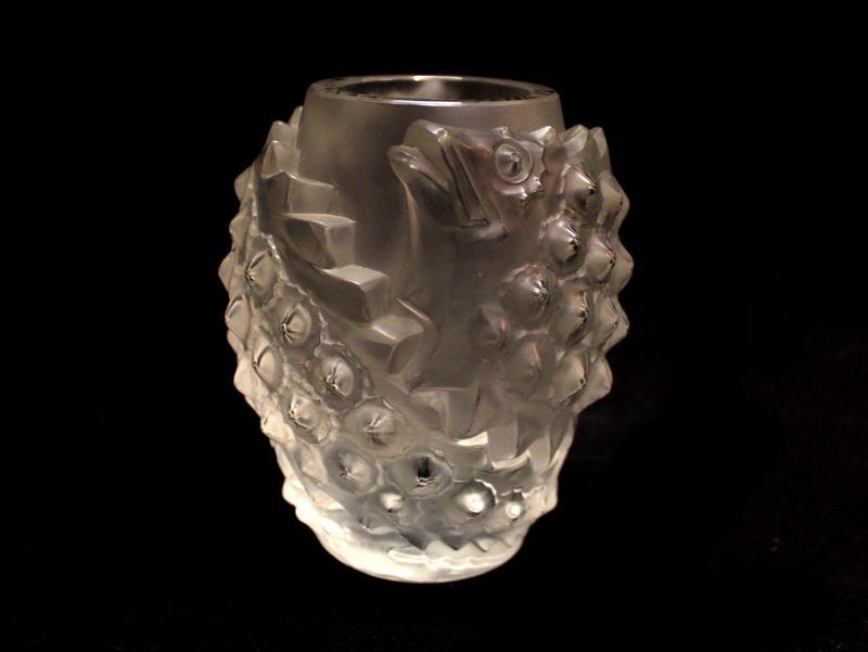 ваза стеклянная высота 13,5 см подпись René Lalique Франция 1860-1945 старт 1200 евро