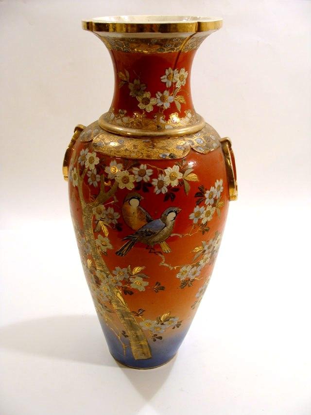 ваза фарфоровая Сацума 19 век 60см