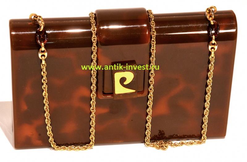 винтажная бакелитовая сумочка Пьер Карден Pierre Cardin в родной коробке
