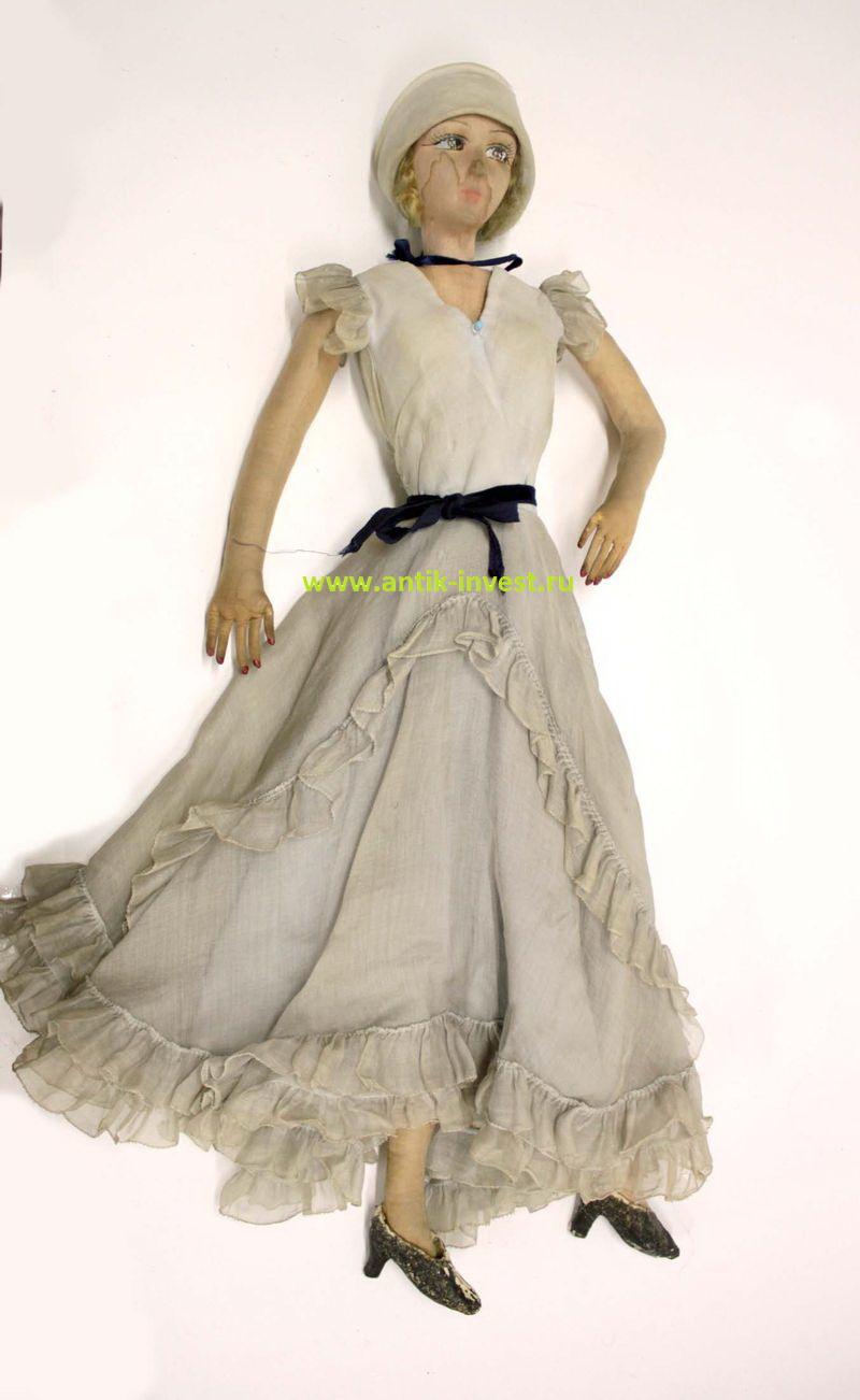 винтажная кукла возможно BOUDOIS 61 см загрязнения