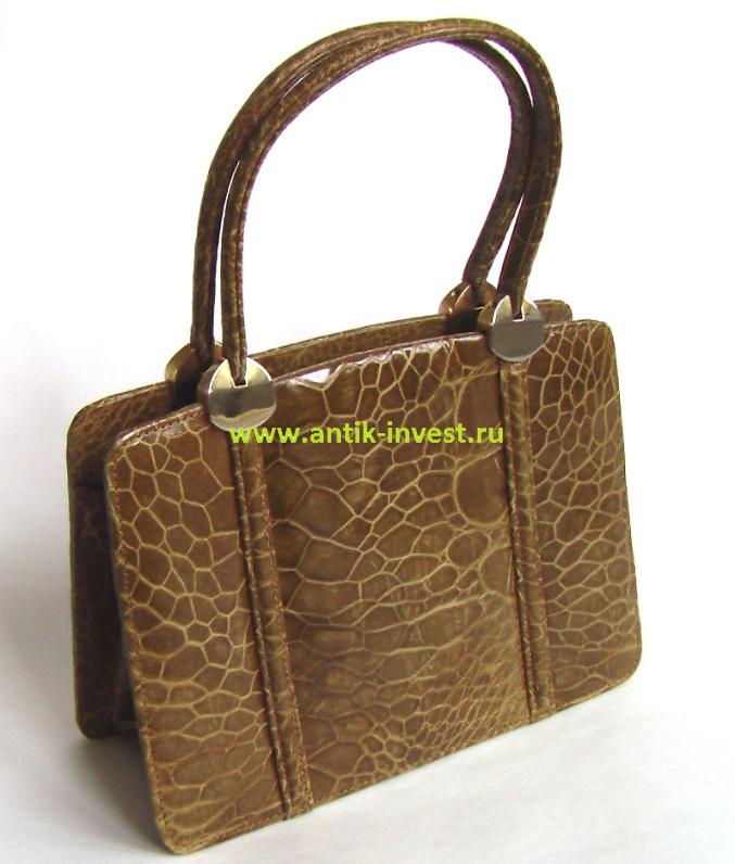 купить винтажную сумку из кожи крокодила кожаная крокодил 1950-ые
