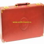 винтажный кожаный чемодан Картье Cartier 34 на 43 см