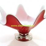 винтаж 60-ые ваза Murano 25 на 30 смопаловое стекло