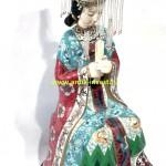 восточная красавица китай эмали клуазоне фарфор высота 48 см