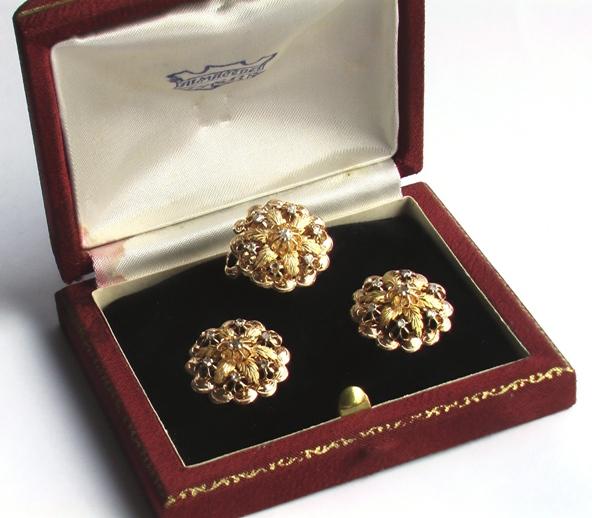 продажа старинных ювелирных украшений из золота с бриллиантами