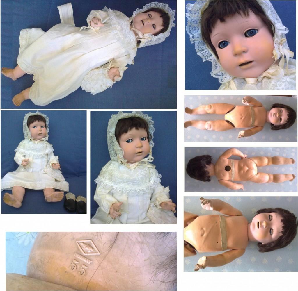 купить антикварную куклу doll КУКЛА Schildkrot Германия 67см клеймоЧерепаха композитная