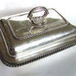 Блюдо с крышкой, глубокое серебрение, Англия кон 19 - нач 20 века