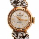 женские золотые часы с платиной и бриллиантами Rolex