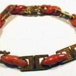 золотой браслет с кораллами начало 20 века интернет аукцион антиквариата