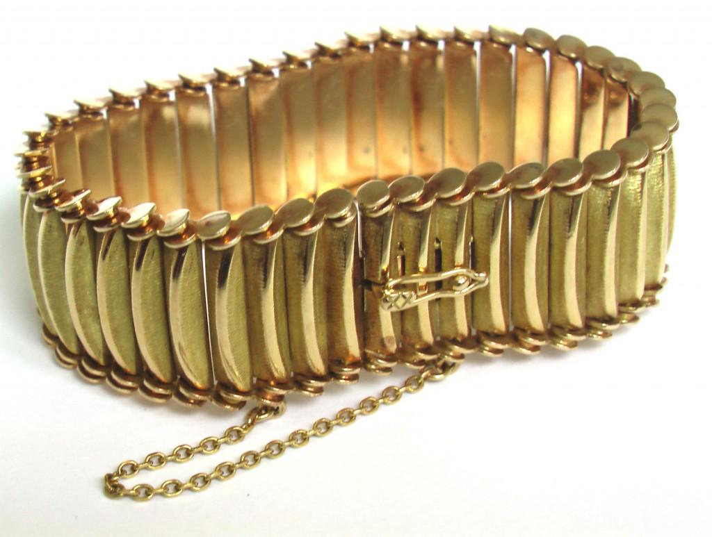 БРАСЛЕТ старинный золотой 750 пр Зап. Европа XIX в