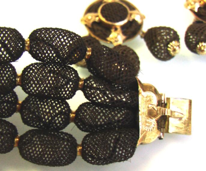 купить старинные ювелирные украшения из волос и золота