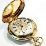 золотые 18К часы будильник 19 век интернет аукцион антиквариата торги