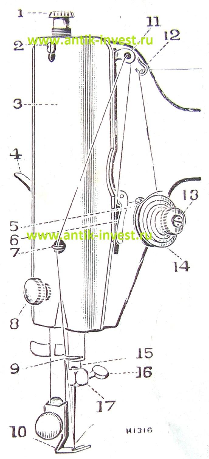 чайка 142м схема заправки нитки