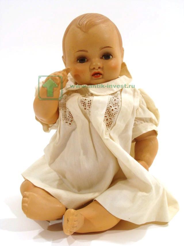 испанская кукла 1940-ые из целулоида глазки открываются рот открыт артикуляция тела 28 см