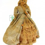 испанская  фетровая кукла Ленчи Lenci 1930 годы оригинальная родная одежда 29 см
