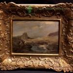 картина Пейзаж и всадники фанера масло нх 15х21 старт 275 евро