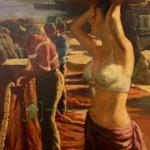 картина Рыбаки холст масло 65х53 старт 450 евро