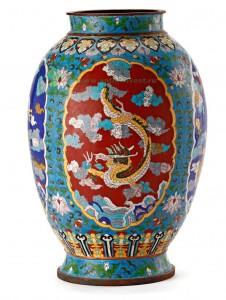 китайская ваза  клуазоне XIX век