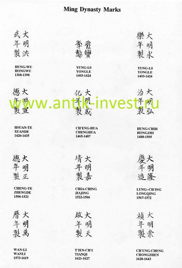 китайские клейма и марки фарфора скачать бесплатно фото клейм