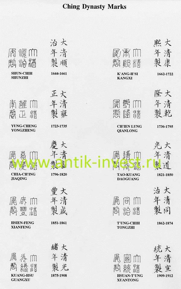 китайские клейма и марки фарфора скачать фото клейм