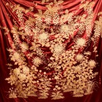 китайский шелковый ковер 19 века вышивка 2,3м на 2,15