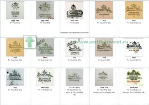 каталог клейм немецкого фарфора клейма фарфора розенталь rosenthal 1922 - 1956 1