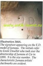 купить куклу узнать клеймо кукла jumeau ED Emile Douillet 1890