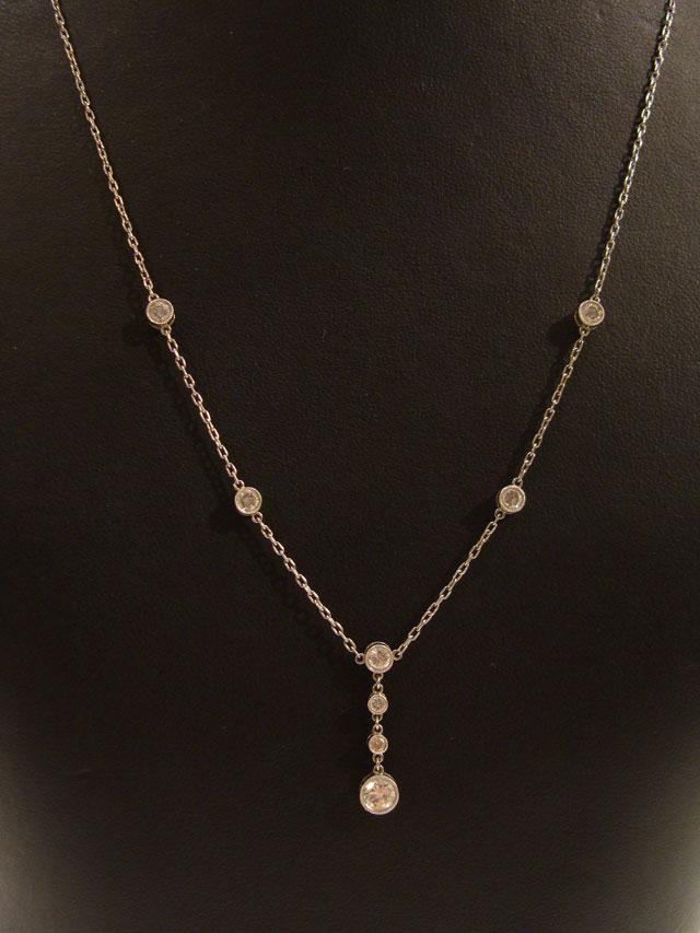 колье цепочка из белого золота с бриллиантами аукцион антиквариата торги