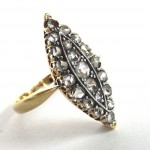 старинное золотое кольцо маркиза с бриллиантами