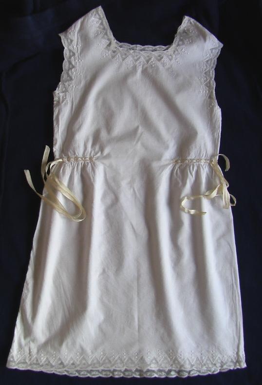 комбинация старинная кружевная с лентами продажа антиквариата старинный текстиль кружево
