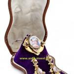 продажа антиквариата купить старинный комплект золотые серьги с эмалью и медальон