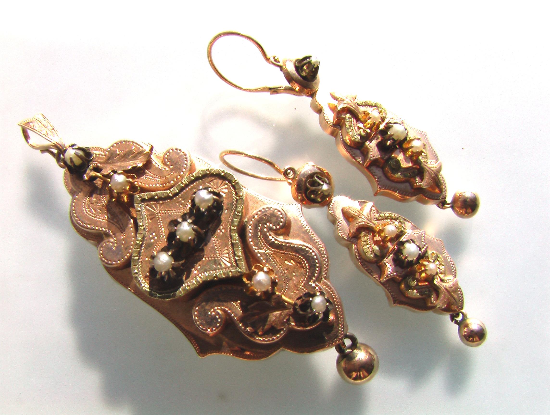 Фото винтажных золотых украшений