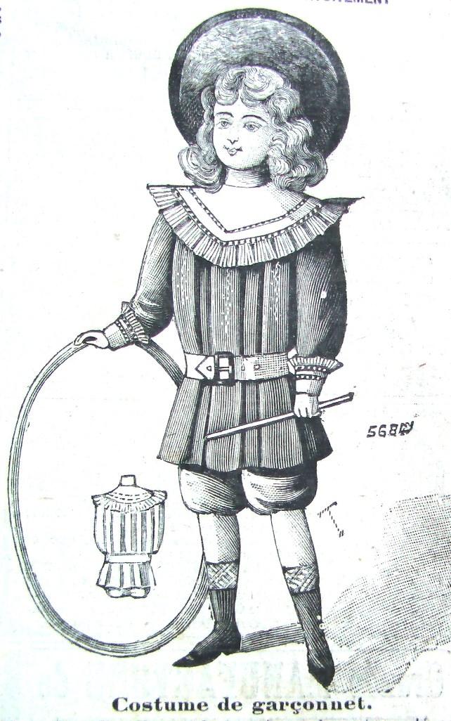 костюм для мальчика из французского журнала мод сентябрь 1900 год