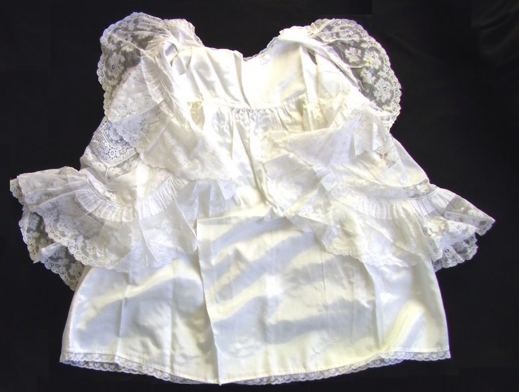 КОМПЛЕКТ на крестины пелерина шелковая рубашка 19в